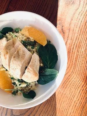 Couscous Gemüse Pfanne mit Huhn